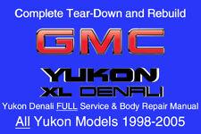 Yukon XL Denali 1998 - 2005 Service Repair Workshop Manual Maintenance GM DVD