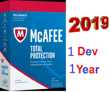 McAfee Total Security 2019 Anti Virus 1 Year  1 Device  - Key Activation