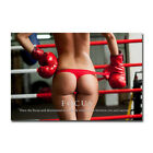 Focus Boxing Girl Motivational Poster Wall Art Print Home Room Decor 24x36 inch