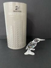 Swarovski Crystal Up In The Trees-Kingfisher w/ Frosted Base 7621000001 Mib