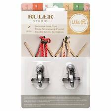 American Crafts We R Memory Keepers Ruler Studio Metal Hooks 2 Piece