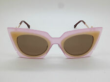 NEW FENDI FF 0117/S LAQUT Orchidea Pink/Peach Cat-Eye 49mm Sunglasses