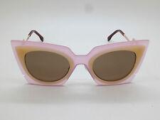 NEW FENDI FF 0117/S LAQUT Orchidea Pink/Peach Cat-Eye 49mm Sunglasses