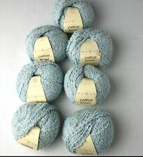 7 Rowan Cotton Braid Yarn Skeins Pale Blue Lautrec 361 Cotton Viscose Linen Knit