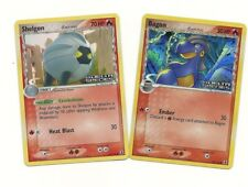 2 EVO Pokemon Cards- SHELGON #54 & BAGON #58 -Ex Delta Species -REV HOLO MINT