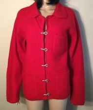 Size S Small 100% wool red coat Pierre Cardin Great Condition Red Jacket