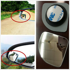 Clear Wide Angle Adjustable Rearview Side Blind Spot Sector Mirror Silver Style