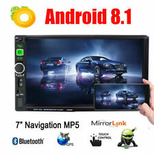 Android 8.1 Double 2Din Car Stereo Radio GPS Wifi OBD Mirror Link BT 3G/4G 7inch