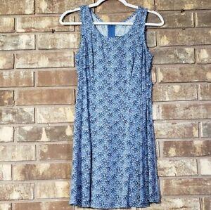 All That Jazz Blue Floral Shift Dress Size 5/6 Vintage 90s