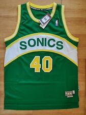 adidas Shawn Kemp Seattle Supersonics Hardwood Classics NBA Jersey in size L