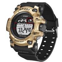 Fashion Waterproof Men's Boys LCD Digital Stopwatch Date Sport Army Wrist Watch