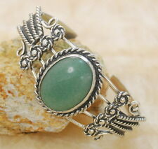 Aventurine Jasper Gemstone Silver Cuff Bracelet Jewelry  BC29