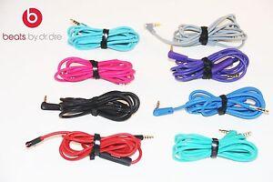 BEATS by Dr Dre Headphones AUX & MIC COLORS - Original Audio Cable 3.5mm L Cord