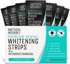 Teeth Whitening Strips with Activated Charcoal - Peroxide Free - Fast