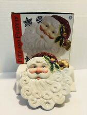 Fitz and Floyd Santa Canape Plate - New in Box Collectible
