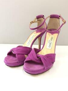 JIMMY CHOO Marion  34  Pnk  Suede Size 34 Pink Fashion heels 1318 From Japan