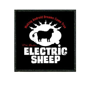 """063C """"TIV"""" FUNNY MORALE PATCH - BLADE RUNNER ELECTRIC SHEEP       COSPLAY BADGE"""