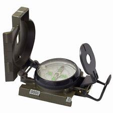 military style lensatic liquid filled compass dark green metal Humvee army