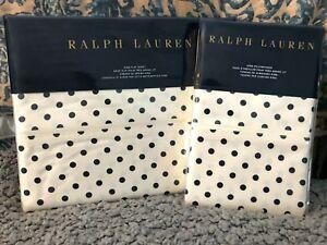 NEW RALPH LAUREN 3PC MODERN GLAMOUR CHARLOTTE KING FLAT & PILLOWCASE SET
