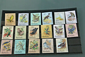 BARBADOS 1979 - BIRDS - SET OF 17 DEFINITIVES ALL UNMOUNTED MINT