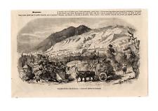 GRAVURE 1852. ALGERIE. BROUSSE. VILLE DE BROUSSE. MOSQUEE VERTE DE MOHAMMED 1ER.