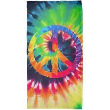 Peace Sign Tie Dye All Over Beach Towel