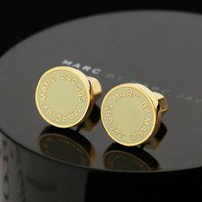 MARC BY MARC JACOBS Enamel Logo Disc Stud Earrings In Cream/Golden