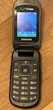 Samsung Gusto 2 Flip Phone Silver Gray Verizon SCH-U365 Prepaid Good ESN Clean
