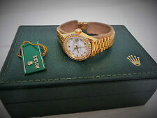 Rolex Oyster Perpetual Lady Datejust Diamond Bezel Dial President Bracelet Watch