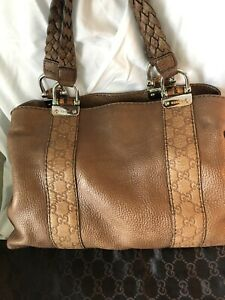 GUCCI Bamboo Bar leather tote