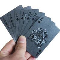 Creative Black Plastic PVC Poker Waterproof Playing Cards Magic Tricks Game US