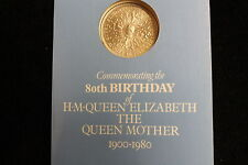 1980 GREAT BRITAIN 80'TH BIRTHDAY CROWN COIN, QUEEN ELIZABETH QUEEN MOTHER