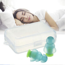 1 Pair Silicone Noise Cancelling Ear Plugs For Sleeping Concert Hear Safe W/ Box