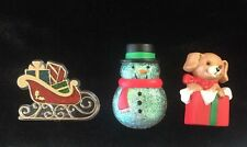 Hallmark Christmas Pins Snowman Gift Box Puppy Santa Sleigh Holiday