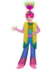Childs Poppy Fancy Dress Trolls 2 World Tour Finale Costume + Wig Girls Book Day