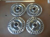 "1967 67 Pontiac Bonneville Hubcap Rim Wheel Cover Hub Cap 14"" OEM USED 5002C SET"