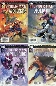 Spider-Man and Wolverine Complete Series #s1-4 Marvel Knights (2003) VF/NM