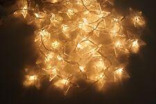 Lichterkette 40 LED Sternenkette Eiszapfen Warmweiß Innen und Außen Strom 230V