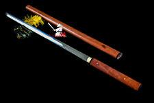 BATTLE READY JAPANESE ZATOICHI KATANA CLAY TEMPERED T-10 STEEL SHIRASAYA SWORD