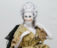 Large Antique Original Marie Antoinette German Half Doll Porcelain