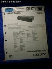 Sony Service Manual XR C7200R Car Stereo (#5394)