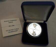 LATVIA RIGA 2006 ICE HOCKEY WORLD CHAMPIONSHIP 31.5g SILVER PROOF COIN +COA +BOX