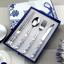 Blue and white porcelain dinnerware Kit Nanjing Features Handicraft China Wind