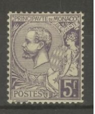 "MONACO STAMP TIMBRE N° 46 "" PRINCE ALBERT 1er 5F VIOLET "" NEUF xx SUP"