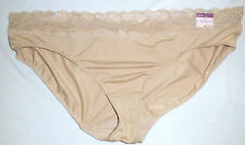 CACIQUE sz 26 / 28 Lane Bryant Lace Trim Hipster Panties NEW Nude