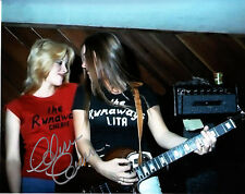 "Cherie Currie - Personally Autographed Colour 8"" x 10"" Photo COA,  The Runaways"