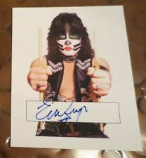 Eric Singer KISS drummer Catman autographed card signed
