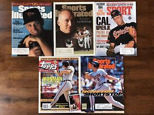 Cal Ripken Jr. - 5 Collectible Vintage Magazine Issues, MLB Baltimore Orioles