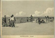 Mondragone Spiaggia Caserta Cartolina viaggiata anni 60 Foto De Martino Brodella