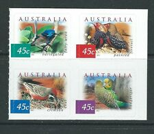 AUSTRALIA 2001 DESERT BIRDS BLOCK  OF 4 SELF ADHESIVE EX BOOKLET UNMOUNTED MINT